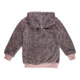 Bruine-rose gemoltoneerde meisjes sweater met deco._