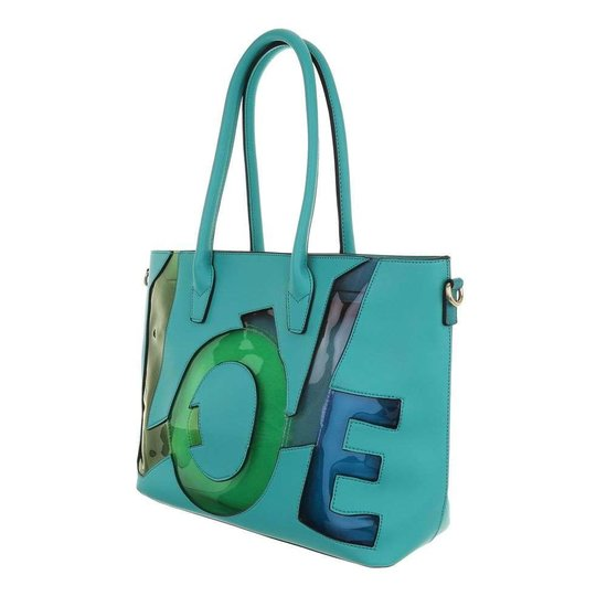 Handtas love groen.SOLD OUT