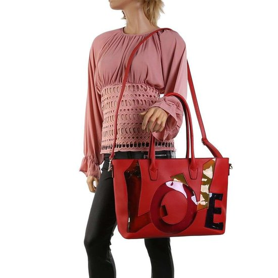 Handtas love rood.SOLD OUT