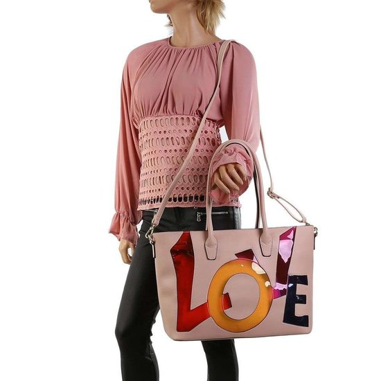 Handtas love roze.SOLD OUT