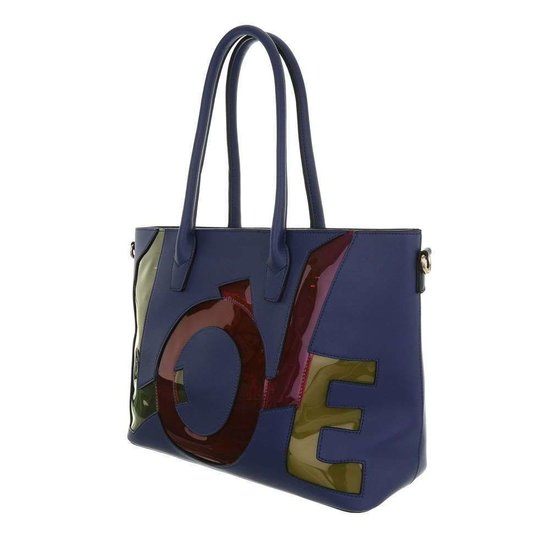 Handtas love blauw.SOLD OUT
