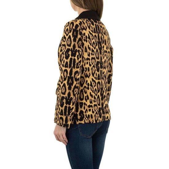 Trendy blazer met luipaard print.