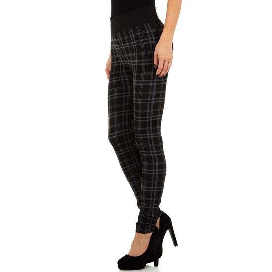 Trendy geruite legging zwart.SOLD OUT