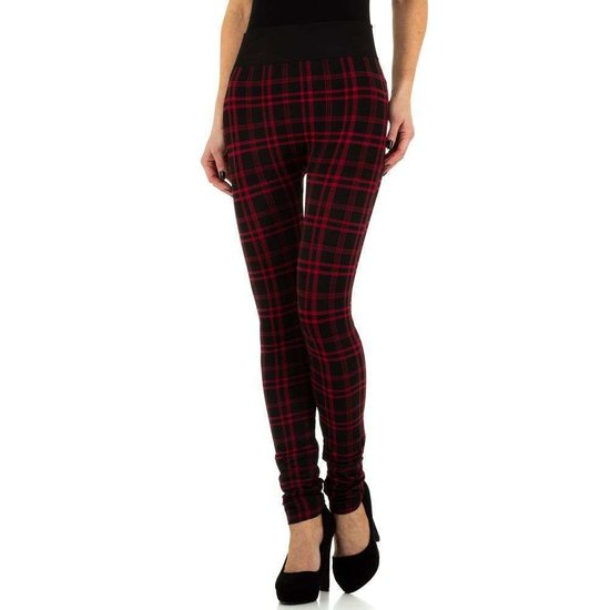 Trendy geruite legging rood.SOLD OUT