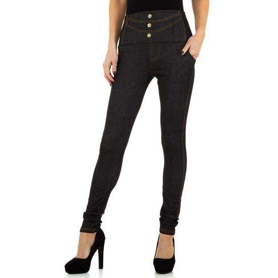 Trendy legging in jeanslook zwart