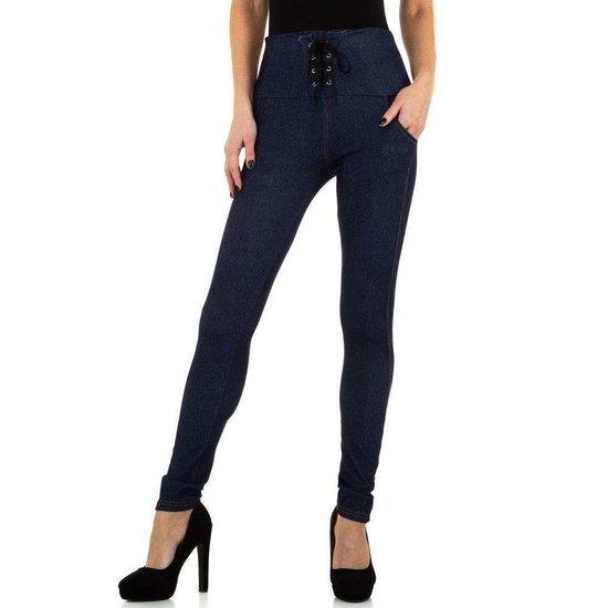 Fashion legging blauw in jeanslook