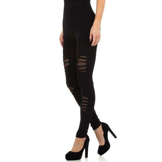 Zwarte legging met destroy effect.SOLD OUT