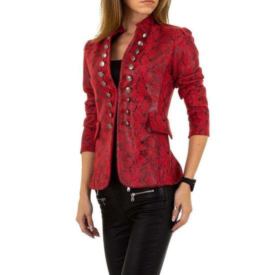 Trendy korte rode blazer. SOLD OUT