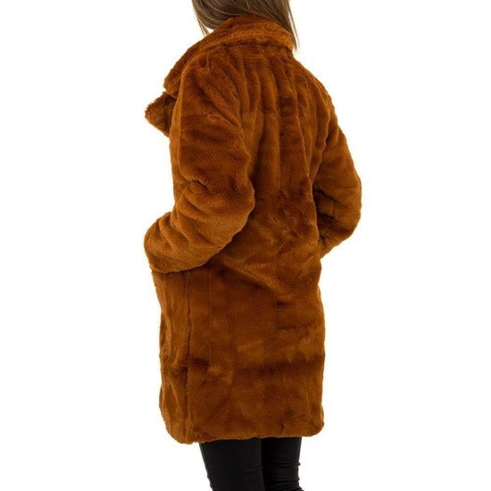 Bruine fake fur jas.SOLD OUT