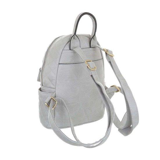 Classy grijze backpack.