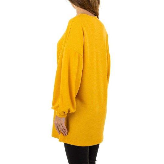 Gele trui jurk.SOLD OUT