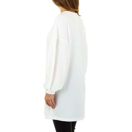 Witte trui jurk.