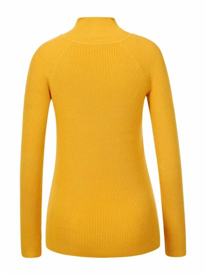 Classy mosterd gele pullover in maille.