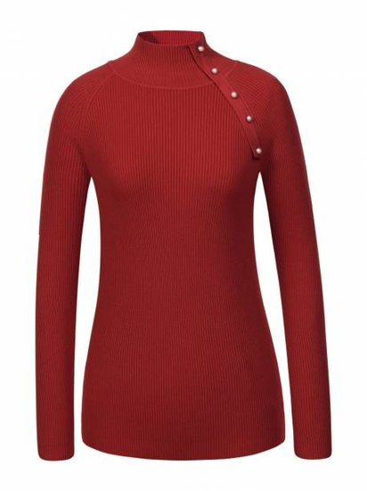 Classy rode pullover in maille.