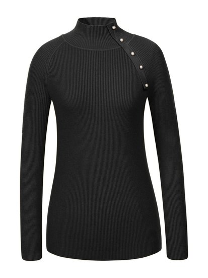 Classy zwarte pullover in maille.