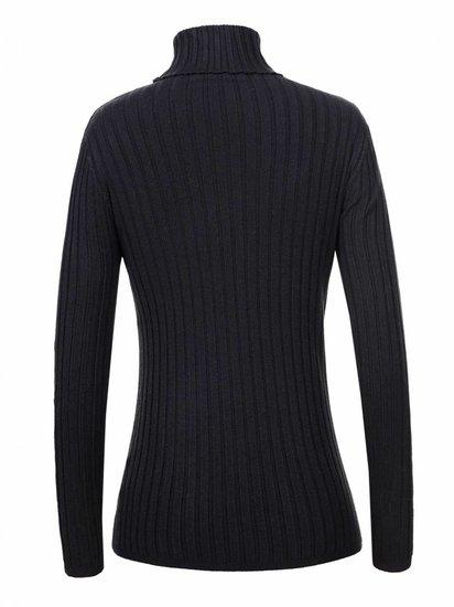 Basic zwarte pullover met rolkraag.