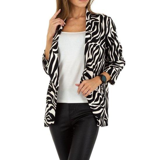 Trendy blazer in zebraprint.