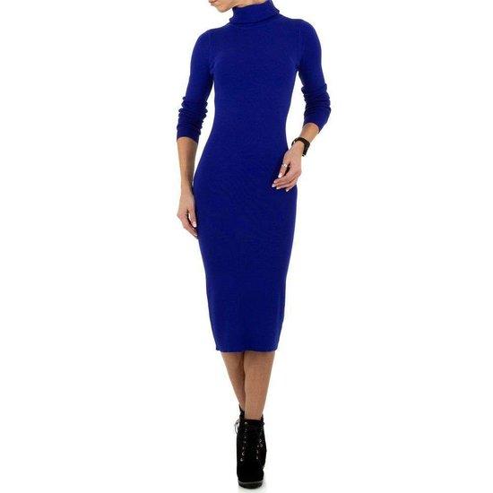 Sexy lange blauwe trui-jurk.SOLD OUT