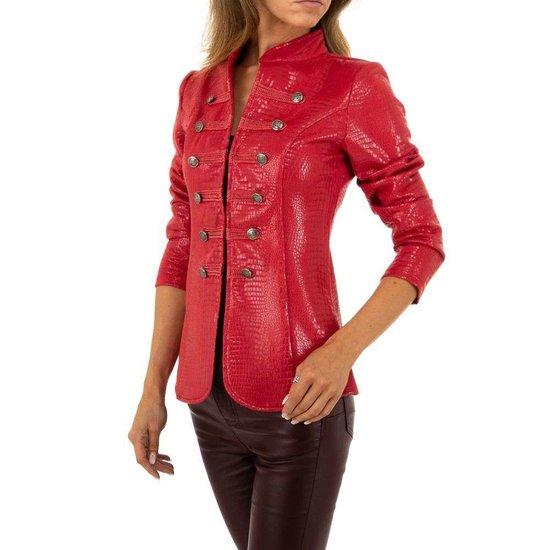 Rode blazer in slangenprint.SOLD OUT