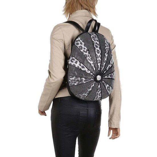 Fashion zwarte backpack.