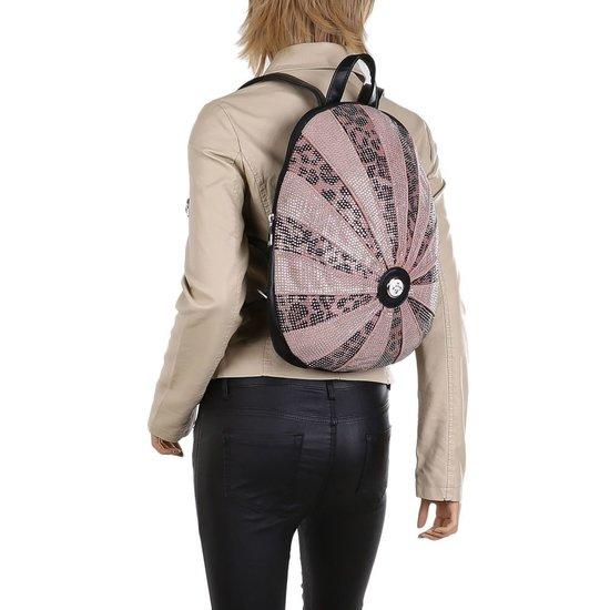 Fashion roze backpack.