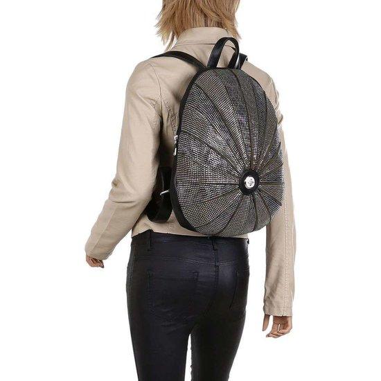 Fashion donker groene backpack.