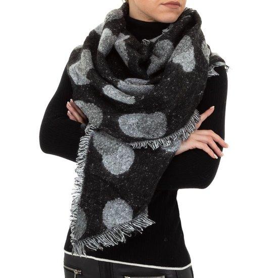 Classy zwart/grijze sjaal.