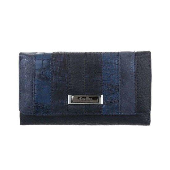 Mix blauwe portemonnee.