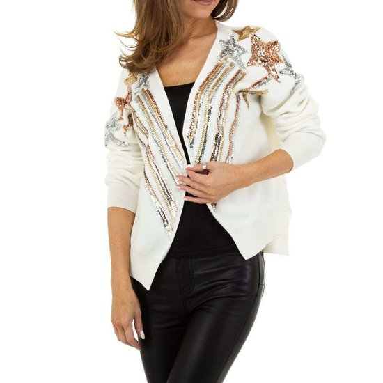 Trendy witte gilet.SOLD OUT