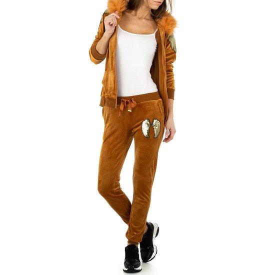 Camel fashion loungewear.