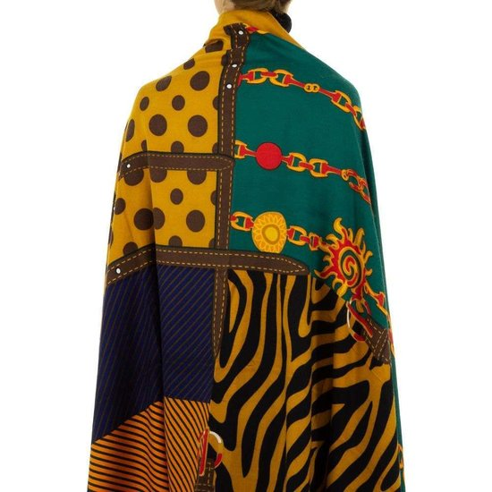 Sjaal geel met mix.