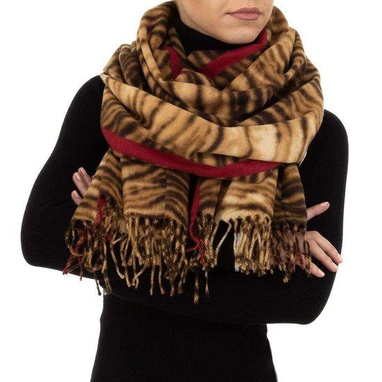 Camel rode sjaal.