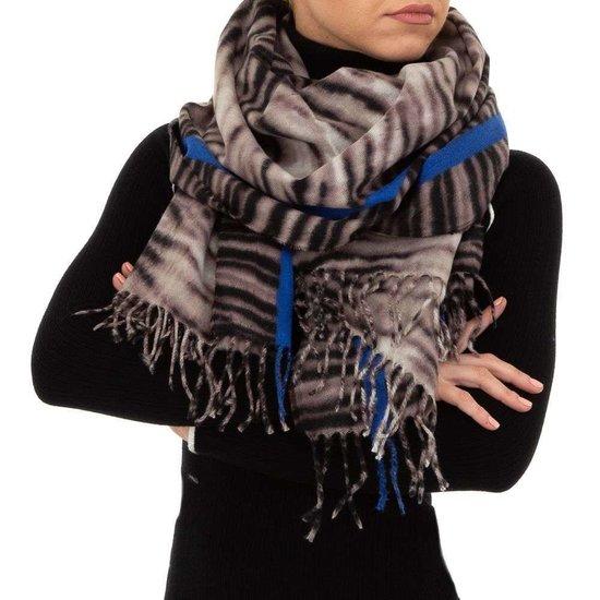 Blauw bruine sjaal.