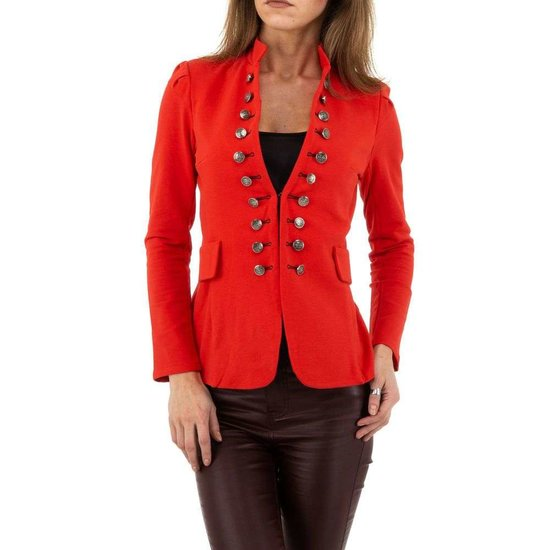 Trendy rode officiers blazer.SOLD OUT