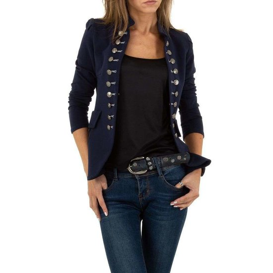 Trendy blauwe officiers blazer.SOLD OUT