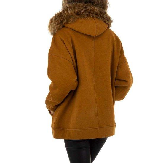 Camel oversized sweater.