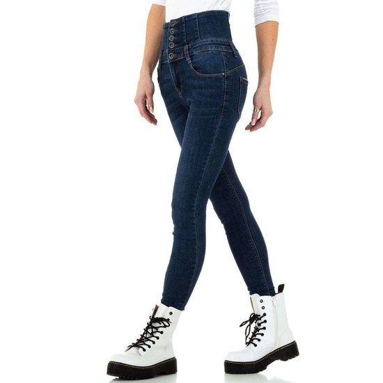 Hippe hoge taille blue jeans.