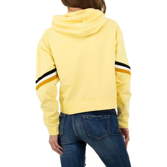 Trendy gele sweatshirt.