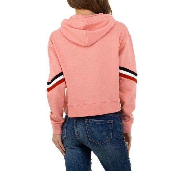 Trendy rose sweatshirt.