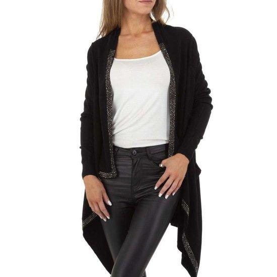 Trendy zwarte cardigan.