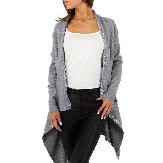 Trendy grijze cardigan.