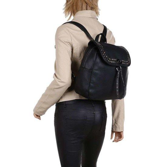 Trendy zwarte rugzak.SOLD OUT