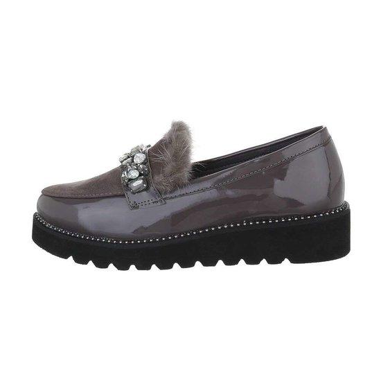 Lage grijze schoen Betty.