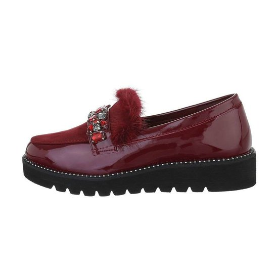 Lage bordeaux schoen Betty.