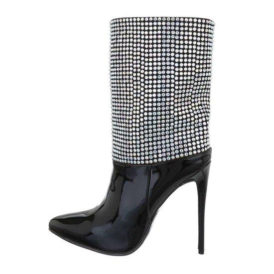 Fashion zwart enkellaarsje Danielle.