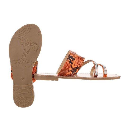 Lage oranje sandaal Patil.