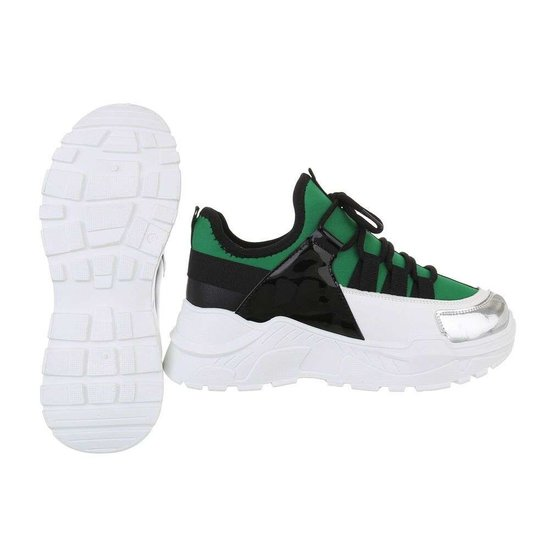 Trendy groene sneaker Rebecca.