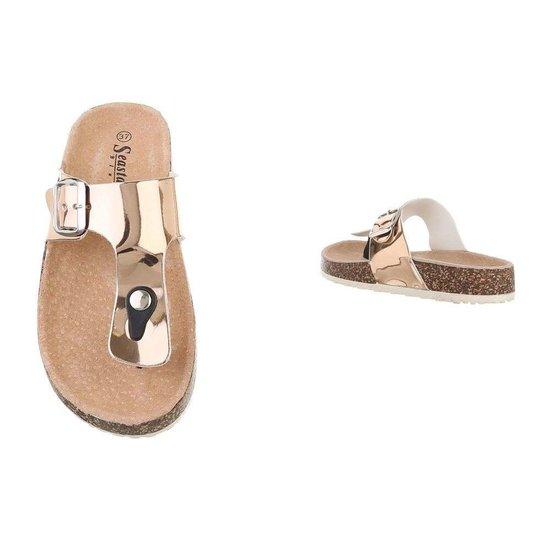 Lage gouden sandaal Sare.