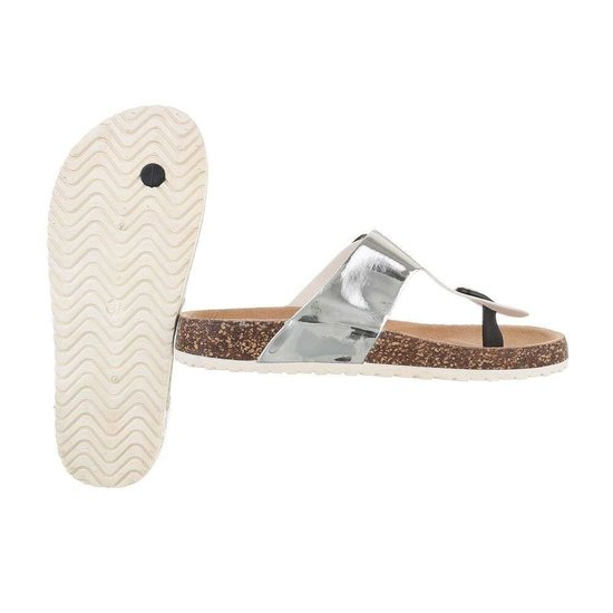Lage zilveren sandaal Sare.