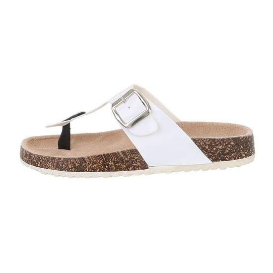 Lage witte sandaal Sare.